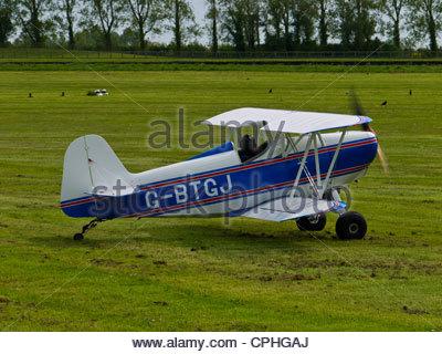 1962 Malovic Sj SMITH DSA-1 MINIPLANE Goodwood England UK Tiny Bi Plane Sigle Seat Airfield Grass , G-BTGJ , - Stock Photo