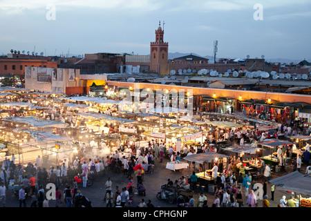 Jamaa El-Fnaa Square Marrakesh Morocco - Stock Photo