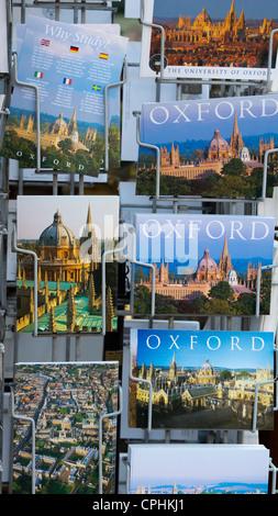 Oxford tourist postcards - Stock Photo