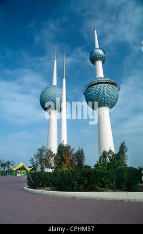 Kuwait - Kuwait City Kuwait Towers - Stock Photo