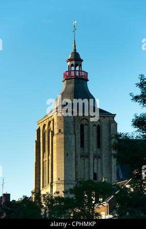 Bell tower, Sint Matthias kerk (Saint Matthew's church), Maastricht, Limburg, The Netherlands, Europe. - Stock Photo