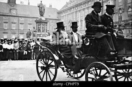 Gustav Gross and Kurt Jukel in Vienna, 1917 - Stock Photo