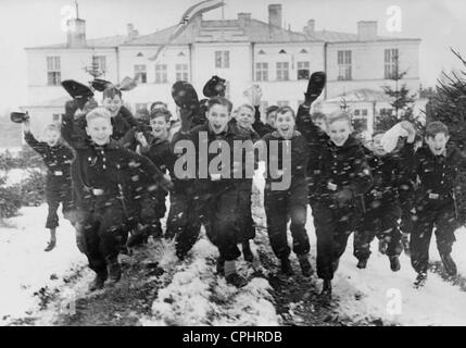 Kinderlandverschickung (sending children to the countryside), 1940 - Stock Photo