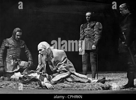 Scene from Shakespeare's 'King Lear,' 1940 - Stock Photo