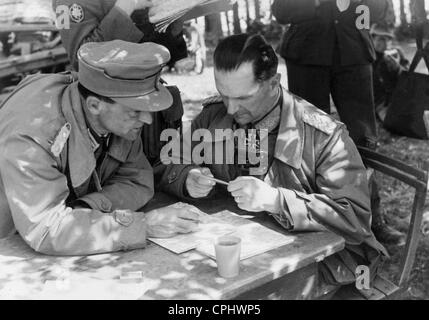 German officers during a meeting, 1941 - Stock Photo