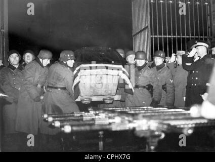 Transfer of the coffin of the Duke of Reichstadt (Emperor of the French, Napoleon II) - Stock Photo