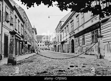 Lower Street in the Jewish district of Eisenstadt, 1931 - Stock Photo