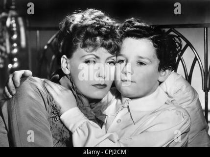Greta Garbo and Freddie Bartholomew in 'Anna Karenina', 1935 - Stock Photo