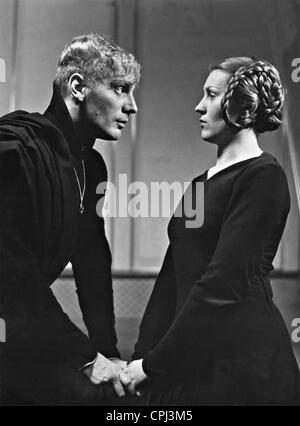 Gustaf Gruendgens and Kaete Gold in 'Hamlet', 1936 - Stock Photo