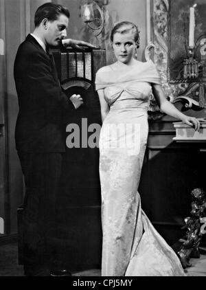 Adolf Wohlbrueck and Renate Mueller in 'Die englische Heirat' (informal title: The British Wedding), 1934 - Stock Photo