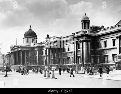 National Gallery in London, 1931 - Stock Photo