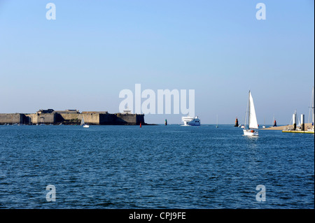 Port-Louis Citadelle near Lorient ,Morbihan,Bretagne,Brittany,France - Stock Photo