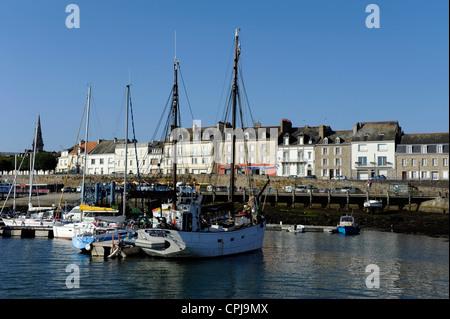 Port-Louis harbour near Lorient ,Morbihan,Bretagne,Brittany,France - Stock Photo