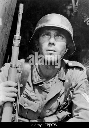 German soldier on the Eastern front, 1943 - Stock Photo