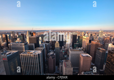 View of Central Park from the top of the Rockefeller Center, New York City. - Stock Photo