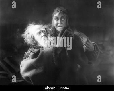 Gosta Ekman and Emil Jannings in 'Faust', 1926 - Stock Photo
