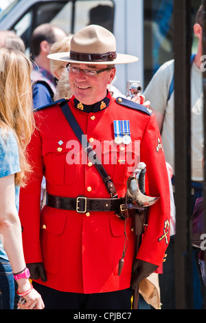 royal canadian mounted police in red serge ceremonial
