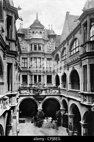 Peller House in Nuremberg, 1907 - Stock Photo