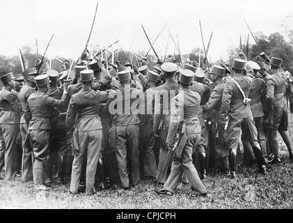 Swearing in of the officers of the Austrian army, 1936 - Stock Photo