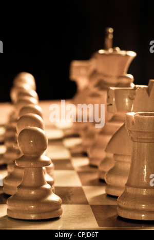 chess pieces on the chessboard - Stock Photo