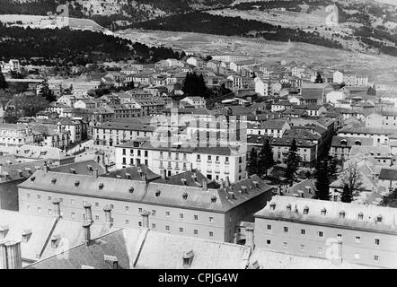 View from the monastery of El Escorial, 1931 - Stock Photo
