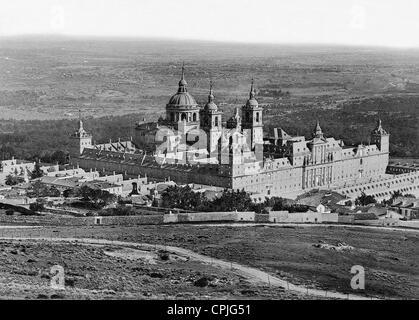 Monastery of El Escorial, 1899 - Stock Photo
