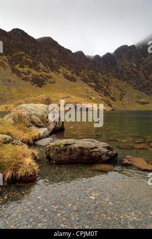 Llyn Cau on Cadair Idris - Stock Photo
