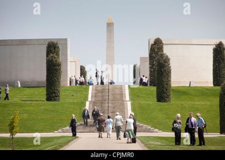 A view of the main memorial at the National Memorial Arboretum in Alrewas, Staffordshire, UK. - Stock Photo