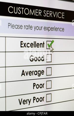 Online customer service satisfaction survey - Stock Photo