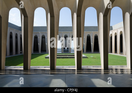 Cloister of the Domus Galilaeae project by the Neo Catechumenal Way on May 19, 2012 in. Korazim, Galilee, Israel. - Stock Photo