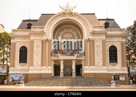 Municipal Theatre also known as the Opera House, Ho Chi Minh City, (Saigon), Vietnam - Stock Photo