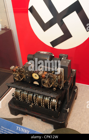USA Maryland MD National Cryptologic Museum at Fort Meade - Anne Arundel County The German Tunny machine - Stock Photo