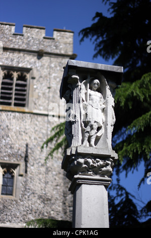 The war memorial at St Peter and St Paul is a church in the town of Bromley - Stock Photo