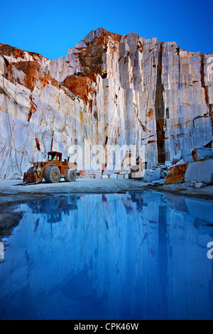 Marble quarry close to Kinidaros village, Naxos island, Cyclades, Greece - Stock Photo
