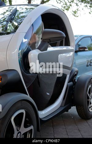 Renault Twizy (production unit) on the street. - Stock Photo