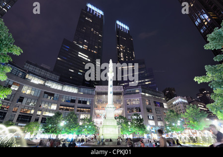 Columbus Circle and Time Warner Center in New York City. - Stock Photo