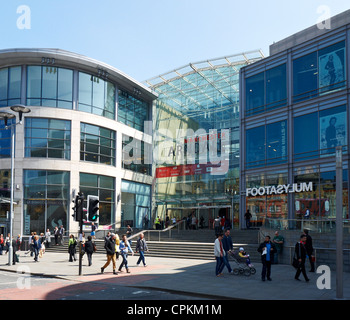 Main entrance to Arndale shopping centre in Manchester UK - Stock Photo
