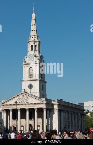 St Martin in the Fields Church Trafalgar Square London. - Stock Photo