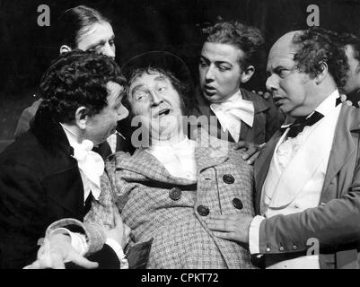 August Koch in an anti-Semitic play, 1936 - Stock Photo
