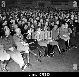 Opening of the exhibition 'The Eternal Jew' in Munich, November 1937 - Stock Photo