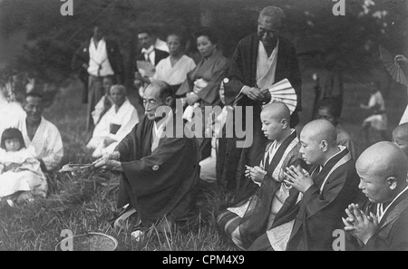 Mourning for the Japanese Emperor Mutsuhito, 1912 - Stock Photo