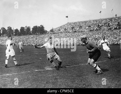 Schalke 04 v VfB Stuttgart in the match for the German Football Championship, 1935 - Stock Photo