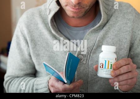 OBESITY TREATMENT MAN - Stock Photo