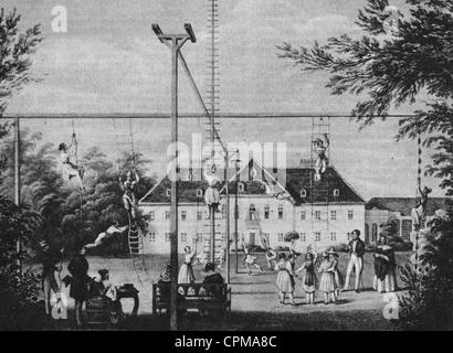 Women's sport, 1845 - Stock Photo