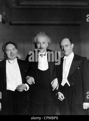 Leopold Godowsky, Albert Einstein and Arnold Schoenberg, 1934 - Stock Photo