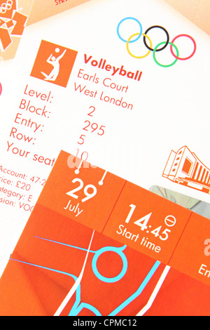 London Olympic tickets 2012 Volleyball - Editorial Use Only - Stock Photo