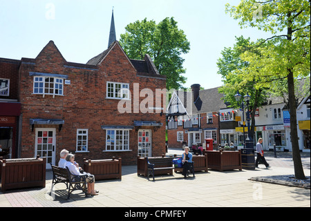 Solihull town centre Uk - Stock Photo