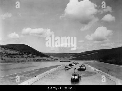 The Rhine-Main-Danube Canal, 1943 - Stock Photo