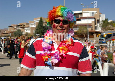 Purim festival 2012 in Eilat Israel - Stock Photo