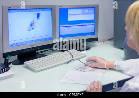FLOW CYTOMETRY - Stock Photo